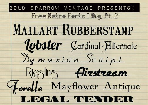 Free Retro Fonts! Free Font Friday - Bold Sparrow Life + Style